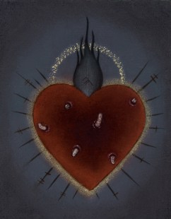 Jasmine Worth - Sacred Heart I: Pestilence,oil on board, 3.5x3 in. $295 Sold