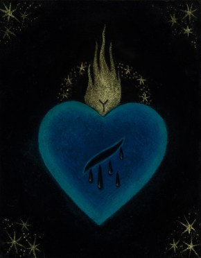 Jasmine Worth - Sacred Heart II: Wound,oil on board, 3.5x3 in. $295 Sold