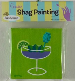 Shag - Purple Potable Cel vinyl on canvas, 6x6 in. $1200