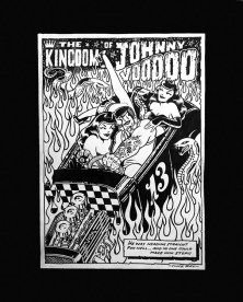 Vince Ray - Kingdom of Johnny Voodoo Ink on paper, 11.25x15 in 16x20 in. frame. $500 Sold