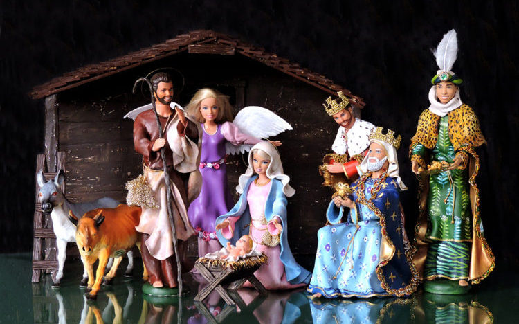 Pool & Marianela - Nativity Scene 7 Characters & 2 animals arranged in a recreation of the Nativity. $TBA