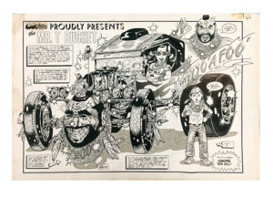 Tom (Fox) Marnick - The Mr. T Bucket Ink on Paper, 30 x 20 in.