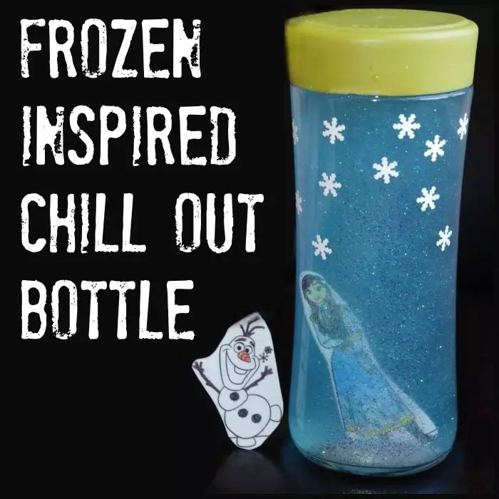 Disney Frozen Craft Anna and Elsa Frozen Chill Out Bottle from Lalymom