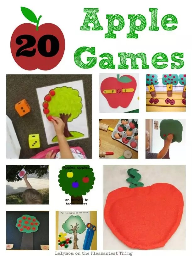 20 Fun Apple Games for Kids by Lalymom on PleasantestThing.com