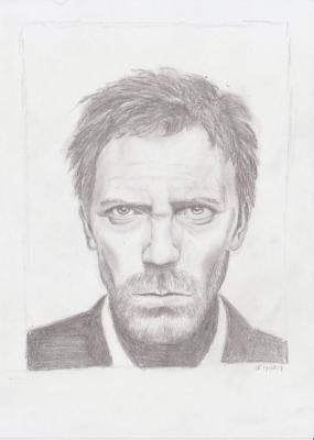 Portret van Hugh Laurie