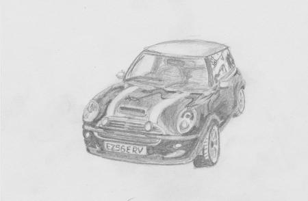 Drawing of a Mici Cooper