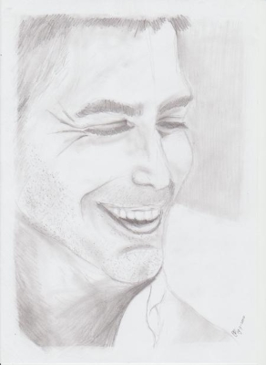 Portrait drawing of George Clooney