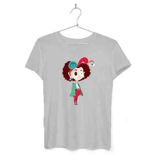 Wombat_Chica con caracol_0001_camiseta_gris