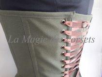 Corset-Vert-kaki-detail