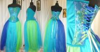 robe-de-mariee-bleue-verte-turquoise