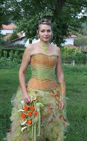 Robe de mariée Brest assymétrique automne