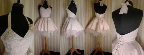 Atelier de création de Robes de mariées courte nude tulle