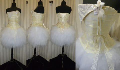 Robe mariée courte sur mesure tulle blanche