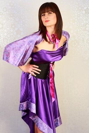 robe de marie soie mauve