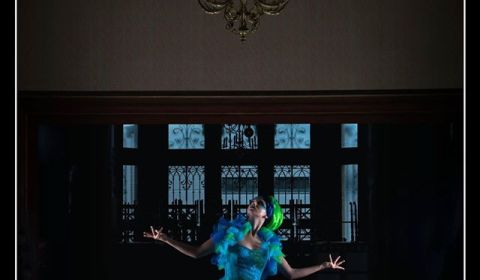 séance photo Michel Le Robe de mariée marine turquoise verte