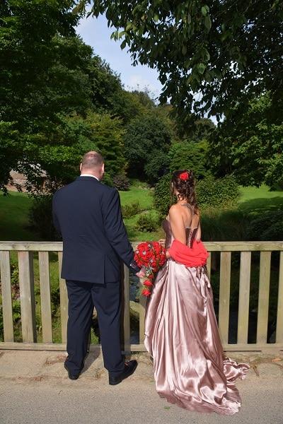 robe de mariée en soie dos