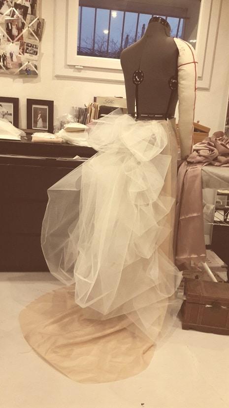 robe de mariée en soie toile