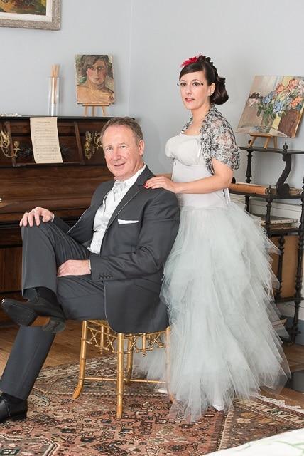 robe de mariée grise