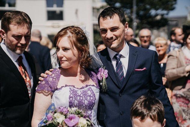 robe de mariée violette