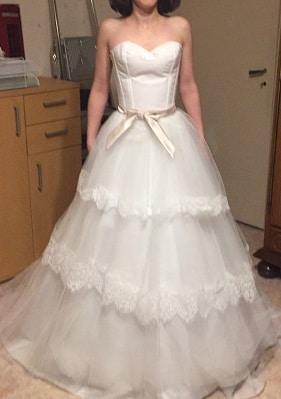 robe de mariée créée à distance