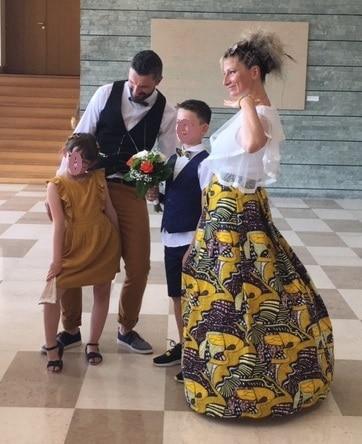 robe de mariée wax africain