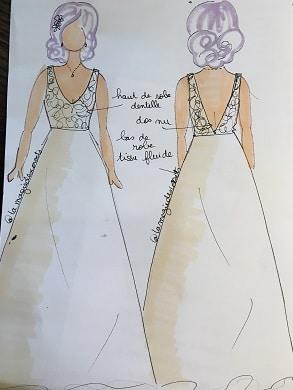 robe de mariée dentelle de calais