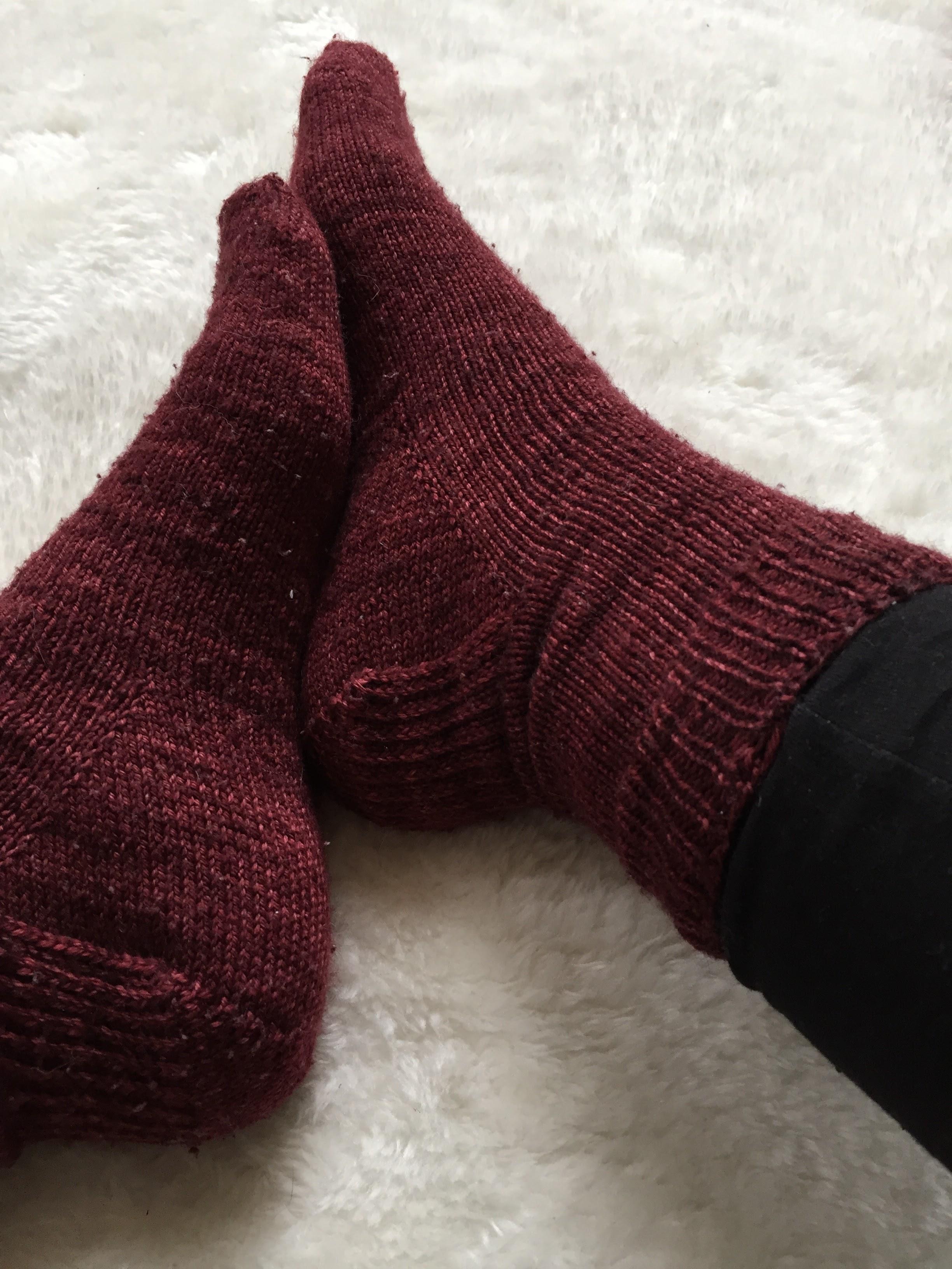 J'ai tricoté mes premières chaussettes!