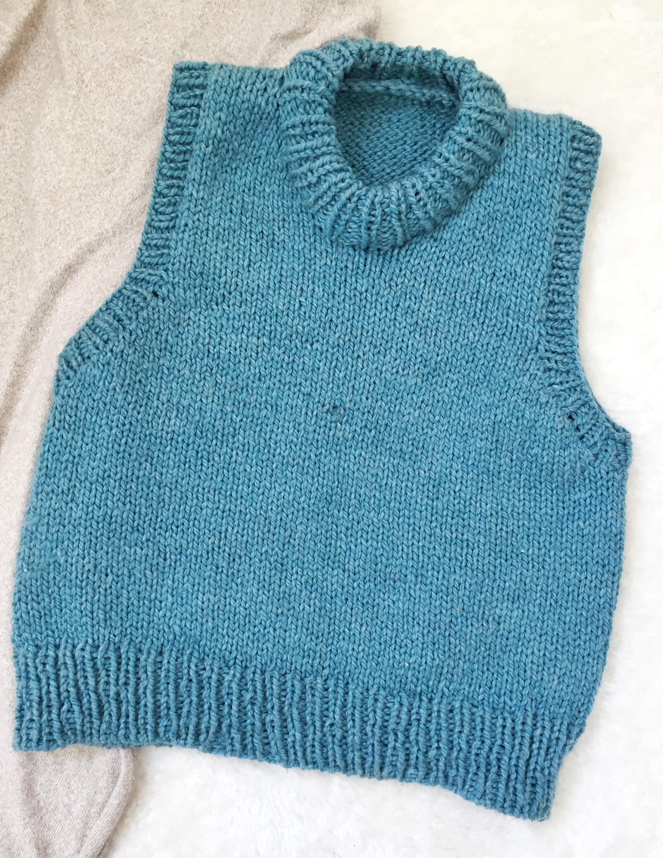 J'ai tricoté un pull sans manche !