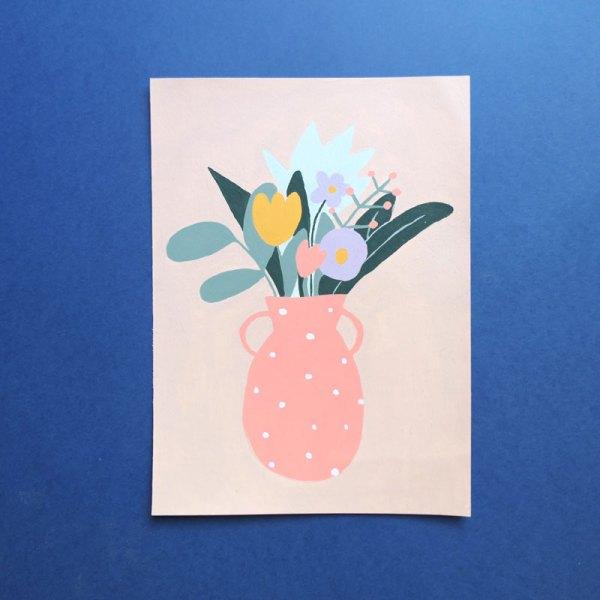 Illustration bouquet lilas