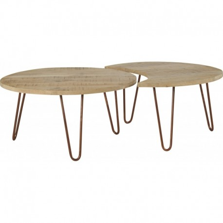 "SET DE 2 TABLES GIGOGNES ""NEST"""