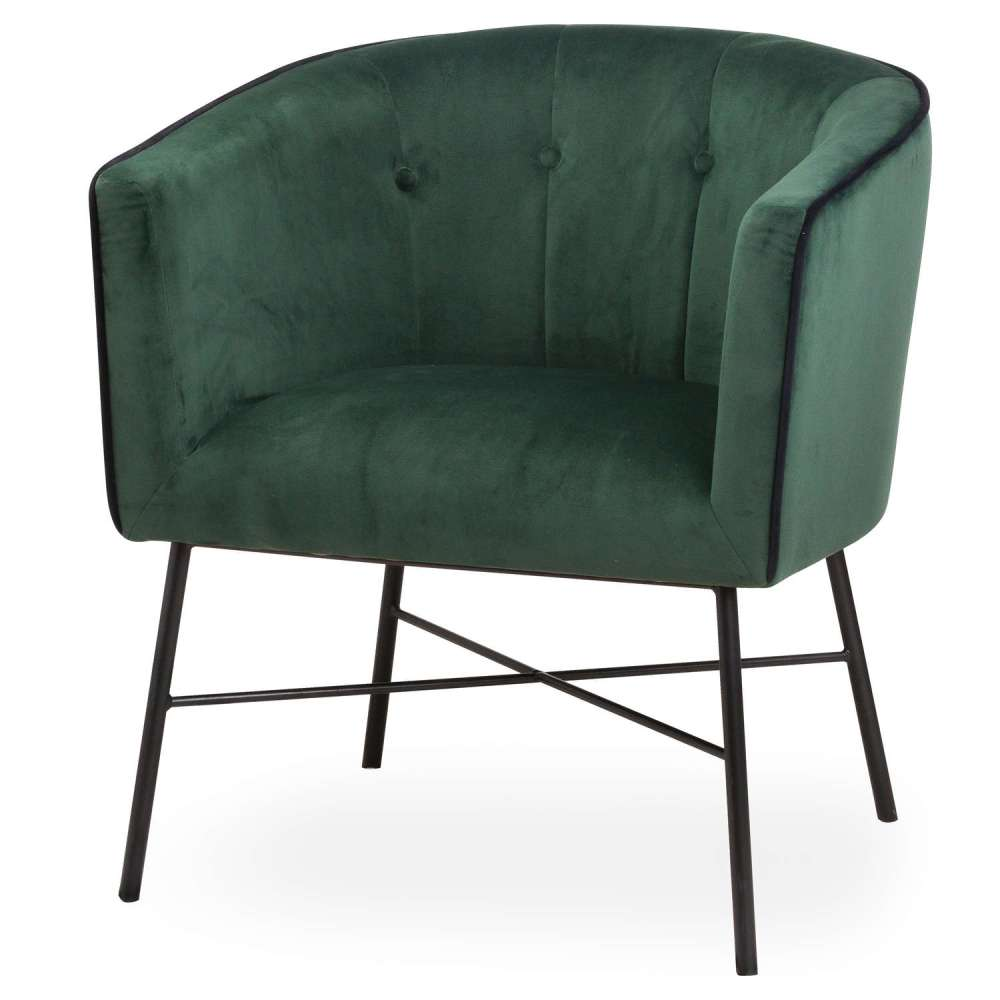 "Fauteuil ""Tub Chair"" Velours"