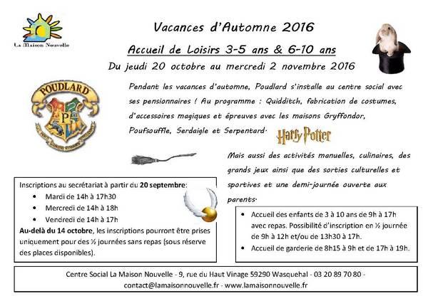 Activités Manuelles Centre De Loisirs 6 10 Ans accueil de loisirs 3-5 ans & 6-10 ans automne 2016 – l'actu de la