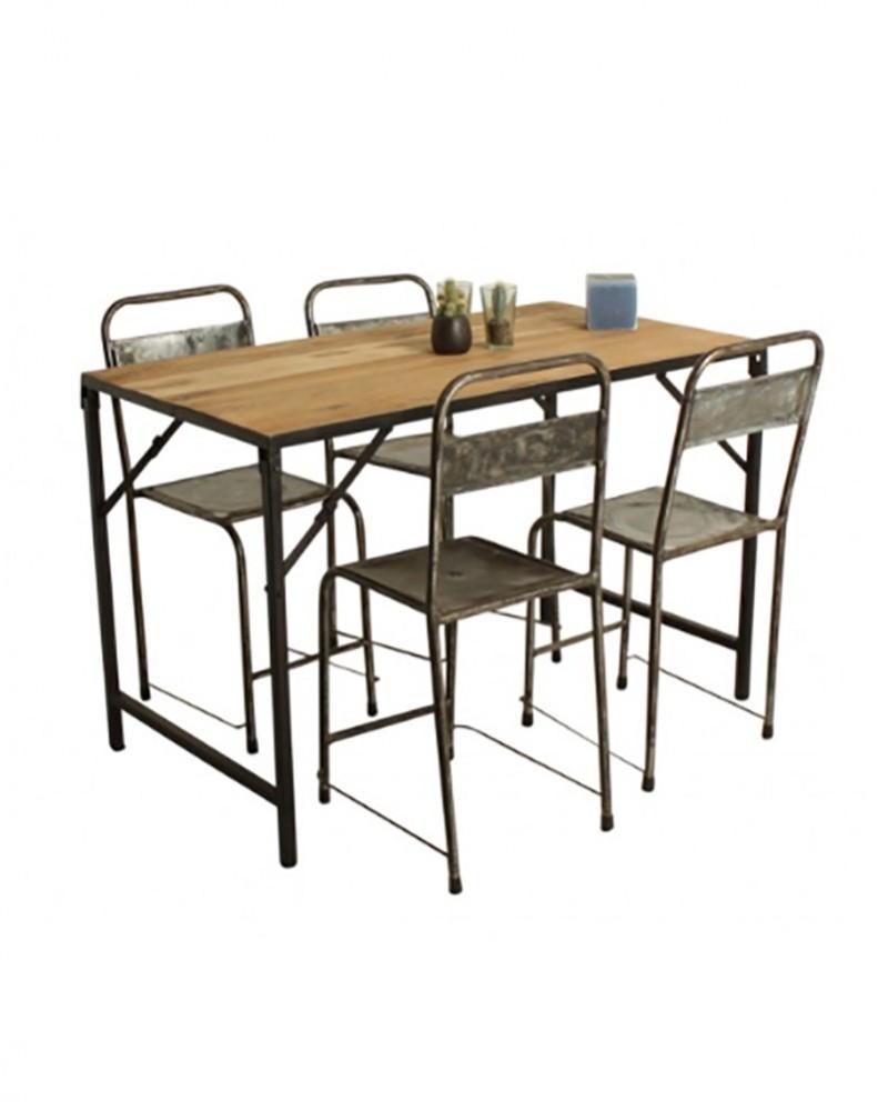 table market en bois metal pliante la maison pernoise
