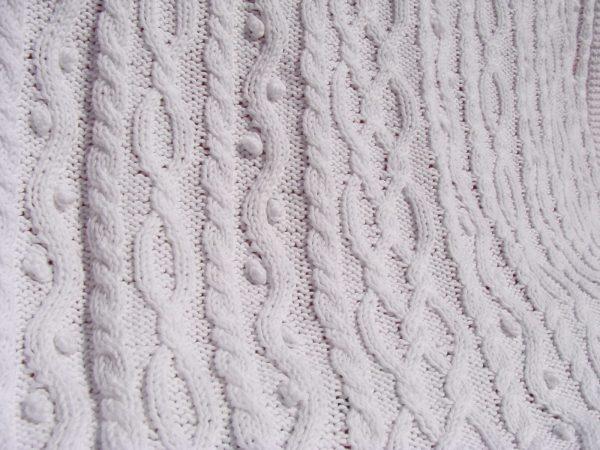 Etole femme 100% coton, tricot irlandais fait main. Pièce unique, création originale La Malle au Coton -t8