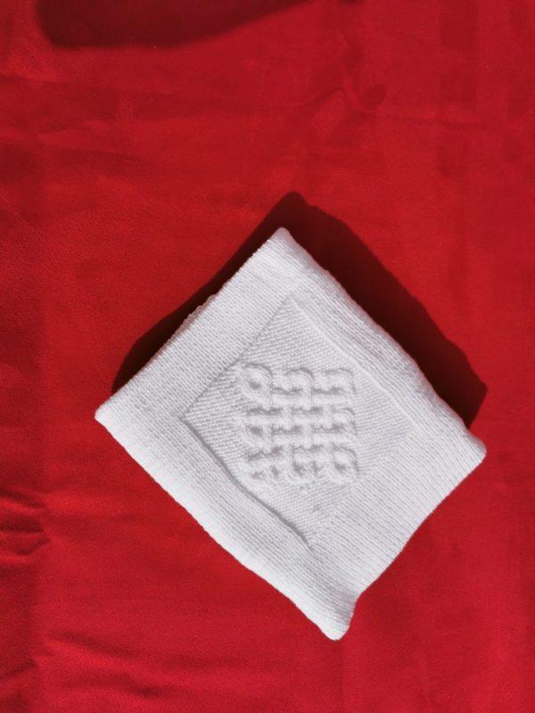 Couverture bébé 100% coton. Détail du motif central. Création originale : La malle au Coton -Z3