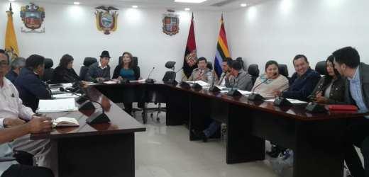 Sesión ordinaria de la Cámara Provincial de Cotopaxi