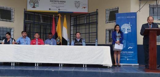 Presentación oficial del nuevo Director del Distrito Educativo La Maná