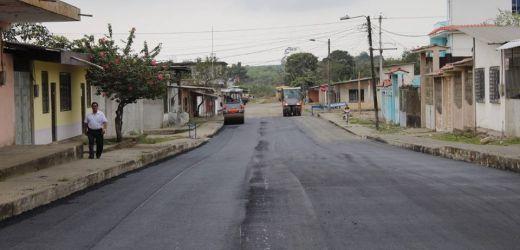 Asfaltado de las calles en la Coop. de vivienda 26 de Octubre