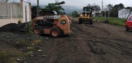 Obras de vialidad para la calle Sandoval Pastor y Libertad