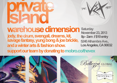 Private Island Warehouse Dimensions – An evening of fashion, music, and arts PrivateIslandEvent Flyer800