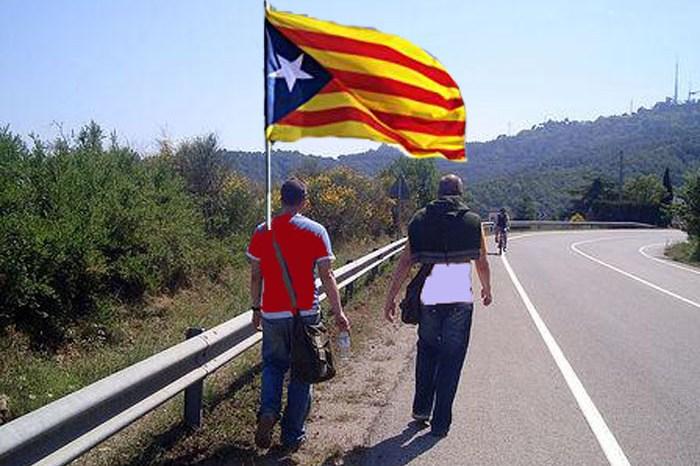 Algo más de dos personas marchan desde El Pedernoso a Madrid para colapsar la Gran Vía en apoyo a los catalanes