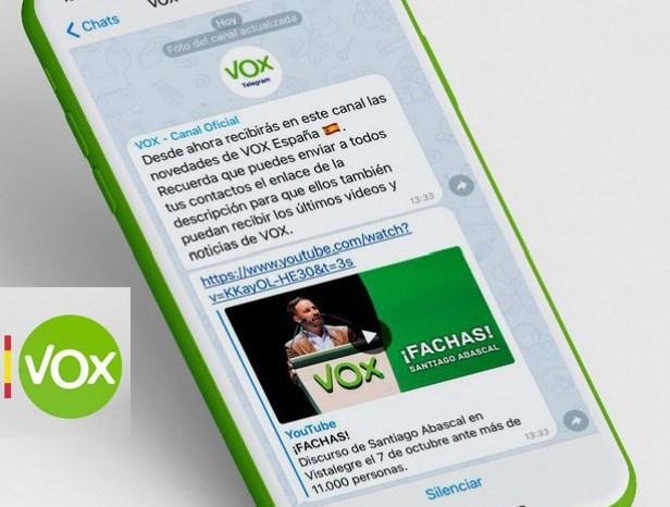 Los fachas manchegos que usen wassap solo podrán mandar mensajes de VOX