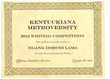 This articles was awarded Kentuckiana Metroversity Award, 2012
