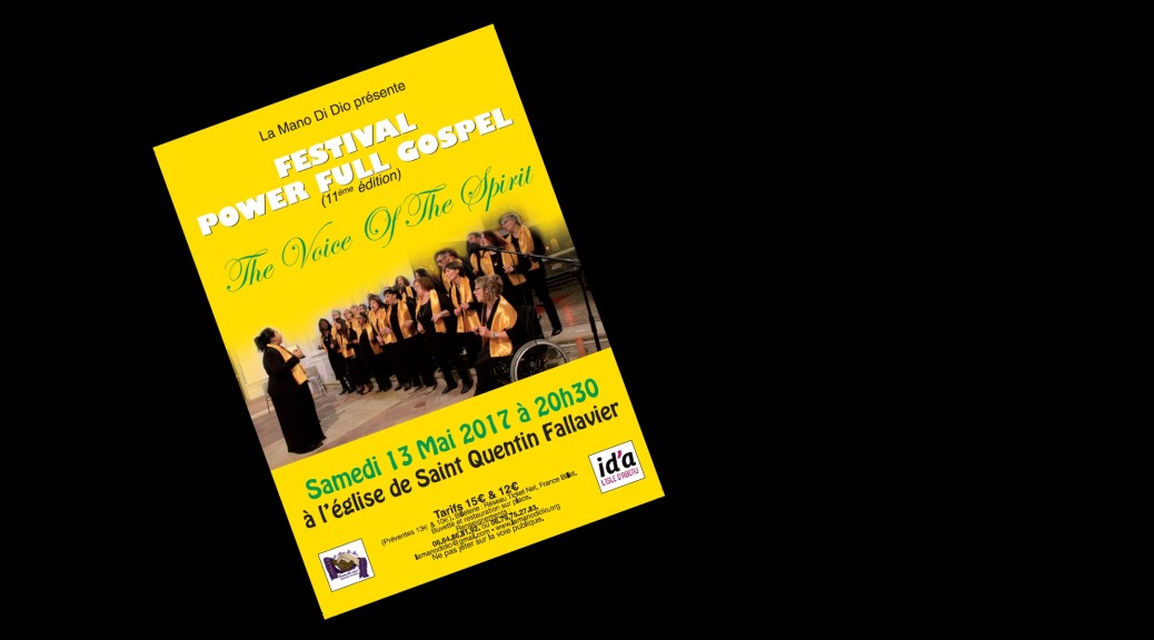 Flyer du concert du 13/05/2017 du Festival : Power Full Gospel
