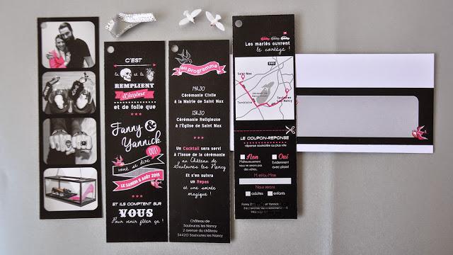 7-faire-part-mariage-photomaton-fannyyannick-rocke-vintage-rose-noir-blanc-argent-sur-mesure-original-2