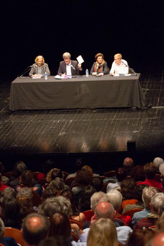Le débat d'ouverture au Théâtre de Mâcon, le 9 mai 2018