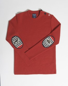 Pull marin rouge oeil
