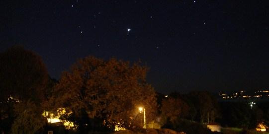 Júpiter en la constelación de Géminis