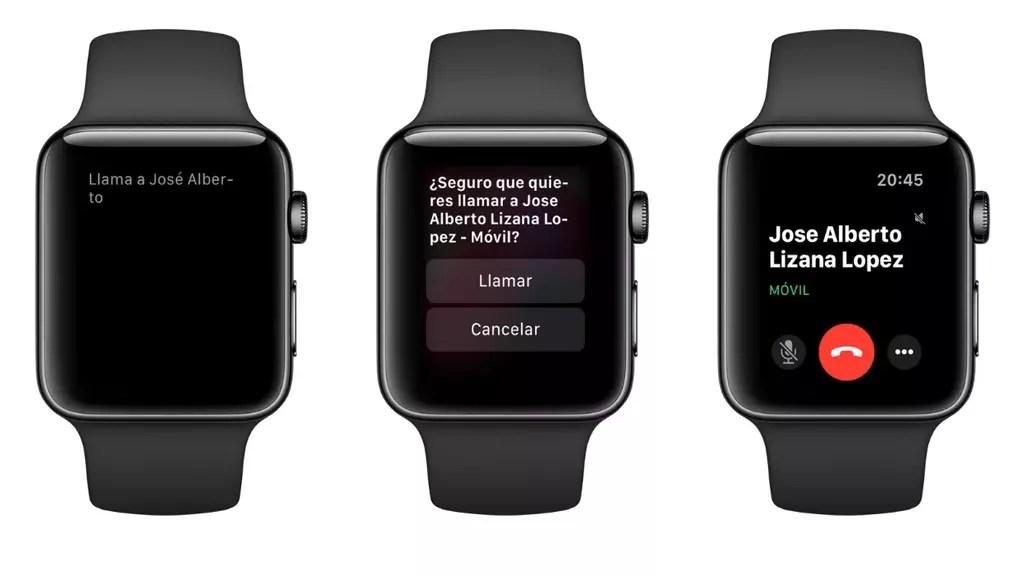 llamar apple watch