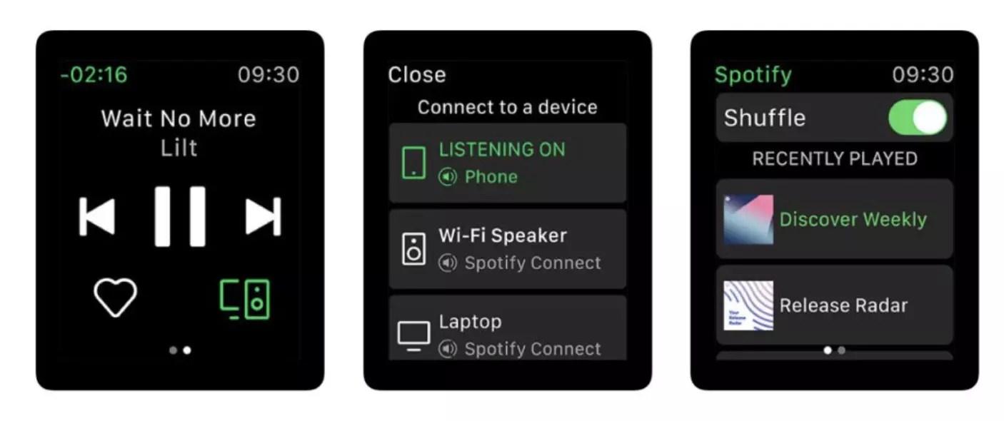 watchOS Spotify